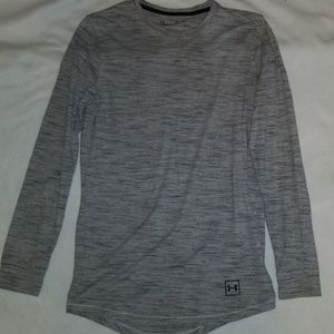 Mens Under Armour heathered gray long sleeve tee
